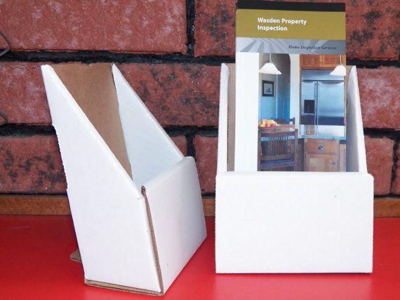 Two Brochure Holder Pamphlet Display Holder Cardboard Advertising ...