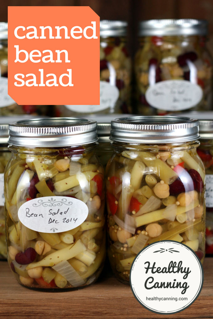 Four Bean Salad Healthy Canning Recipe In 2020 Bean Salad Canning Recipes Four Bean Salad