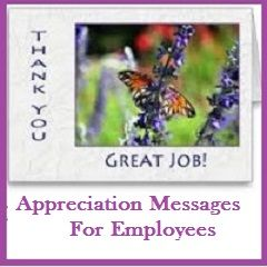 Sample Messages And Wishes  Appreciation Messages For Employees