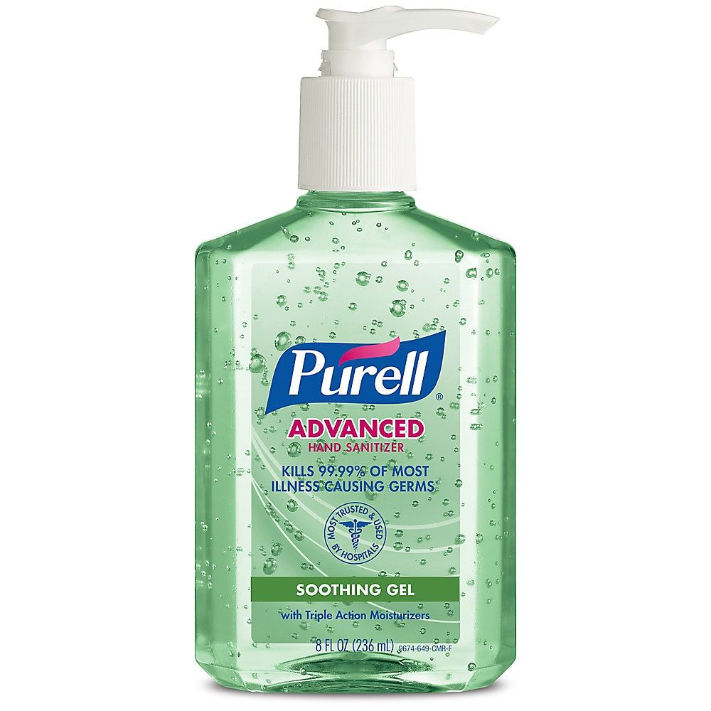 Purell Advanced Hand Sanitizer Soothing Gel Fresh Scent 8 Fl Oz