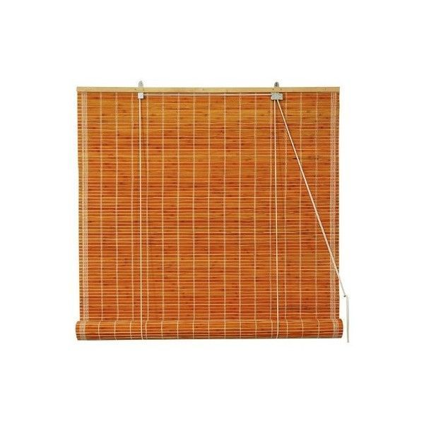 Art Wood Roll Up Blinds: Oriental Furniture Burnt Bamboo Roll Up Blinds In Honey