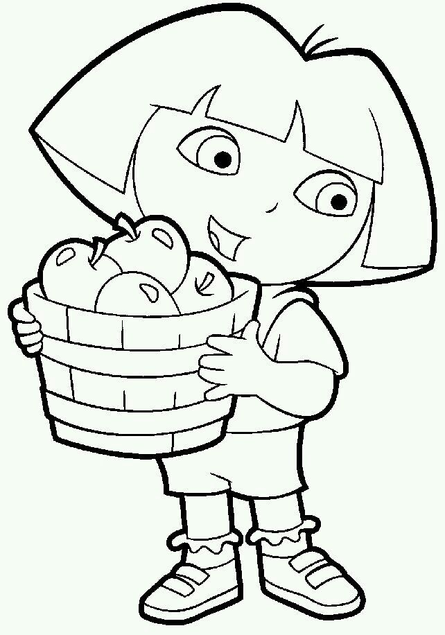 Pin By Yoon Soh On Cartoons Elephant Coloring Page Dora