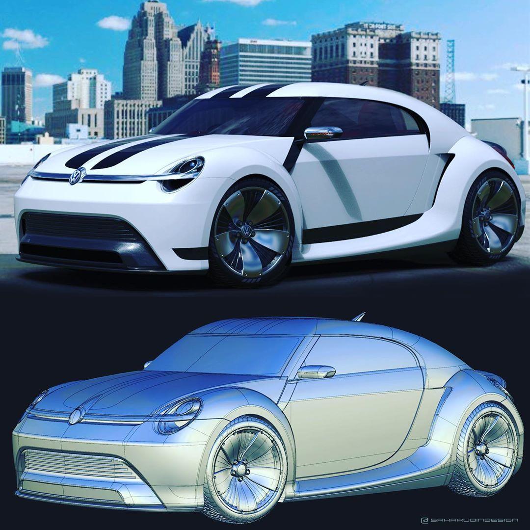 Saharudin Busri On Instagram Vw Beetle Concept 2020 Digital Rendering 3d Surface Modelling Automotived In 2020 Automotive Design Surface Modeling Sports Design
