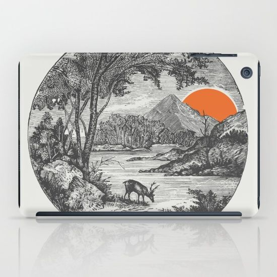Ipad case with illustration