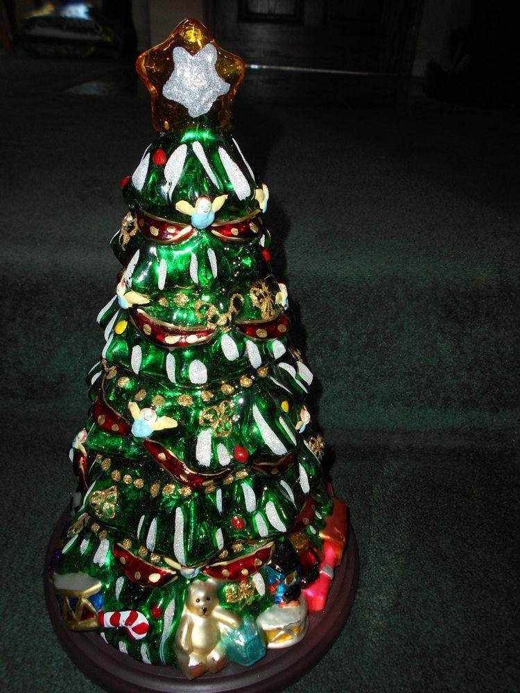 THOMAS PACCONI CLASSICS LARGE GLASS CHRISTMAS TREE...VGUC...NO COA - Details About Thomas Pacconi Classics 2003 43 Figural Glass