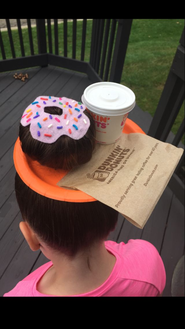 Crazy Hair Day Crazy Hair Day Ideas Crazy Hair Day at School Girls Crazy Hair Ideas So can't do Dunkin' Donuts, but girl I can work it with some Starbucks!!!