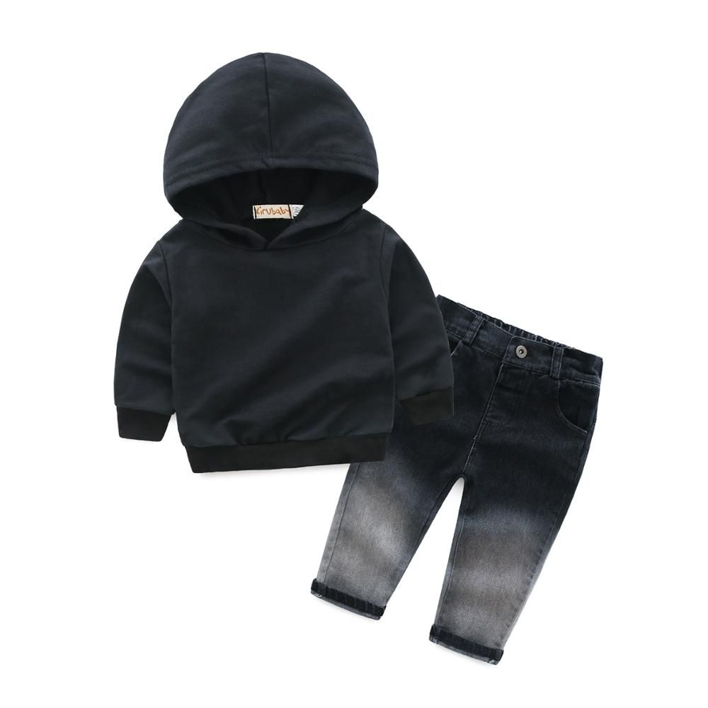 Toddler Kid Baby Boy Girl Hooded Letter T-shirt Pullover Blouse Hoodie Tops