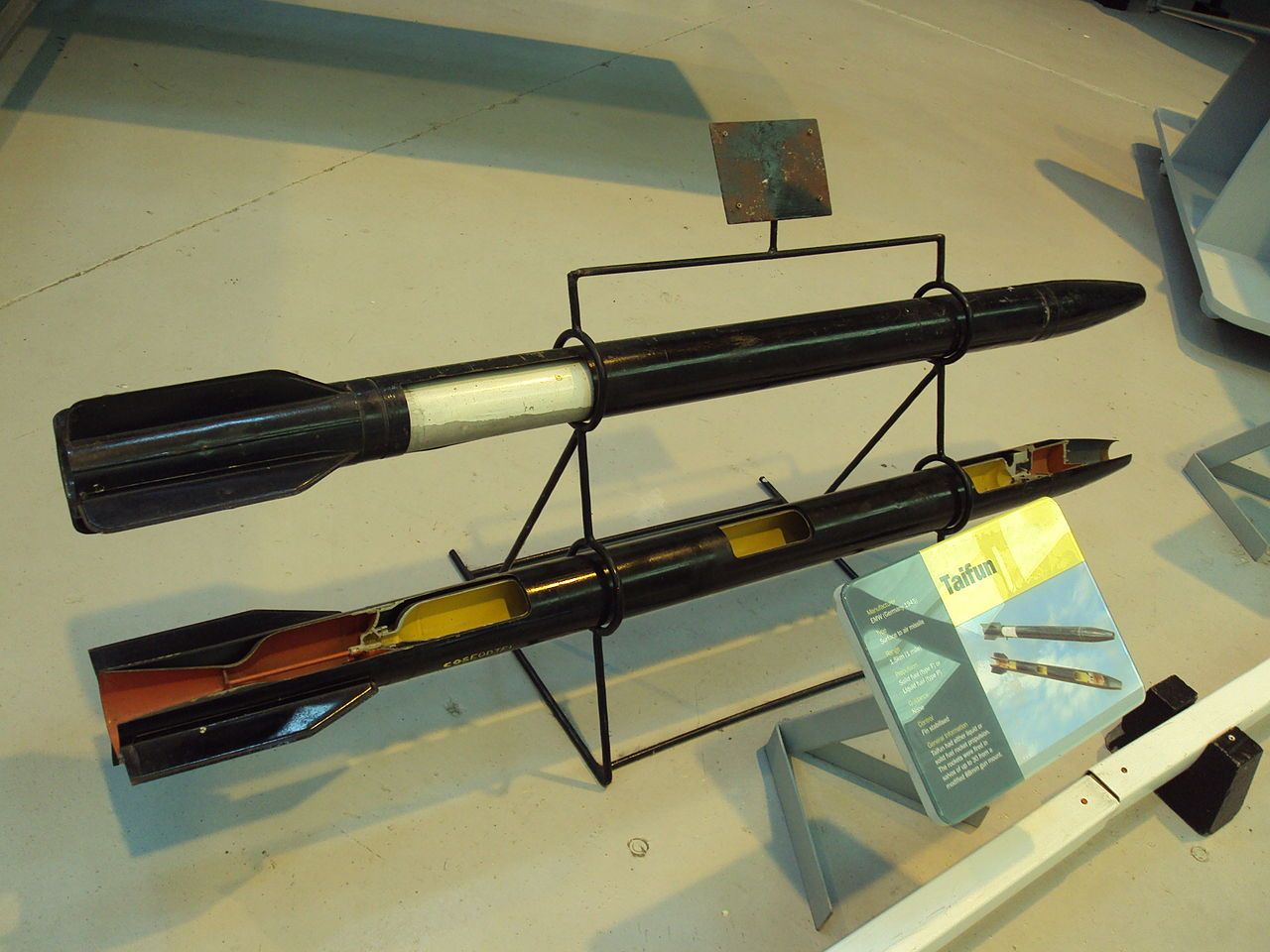 RAF Museum Cosford - DSC08606 - Taifun (rocket) - Wikipedia, the free encyclopedia