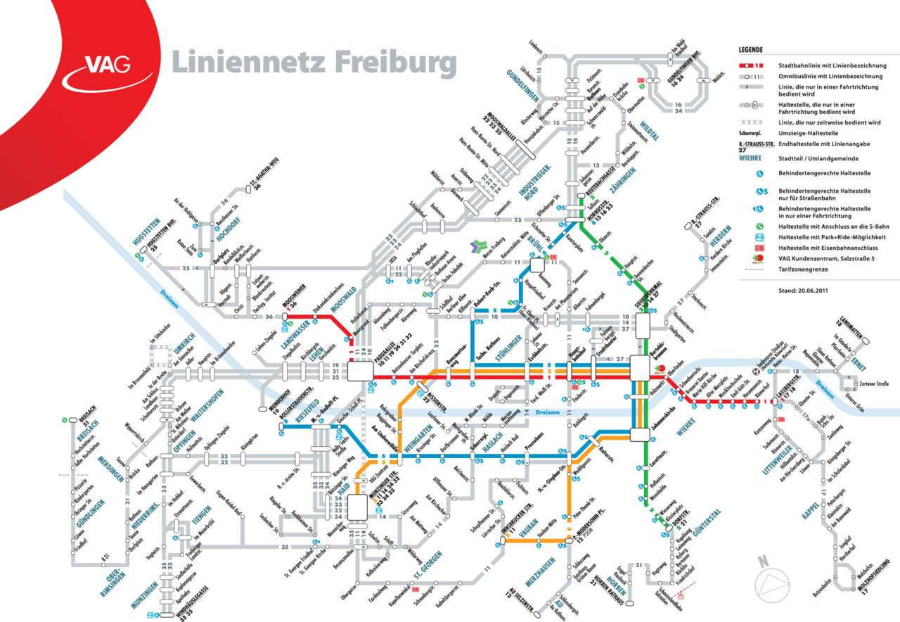 Official Map Freiburg im Breisgau, Germany Transit Maps Pinterest Freiburg