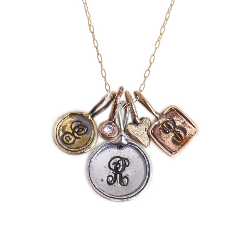 personalized charm necklace trinket charm necklace in silver gold