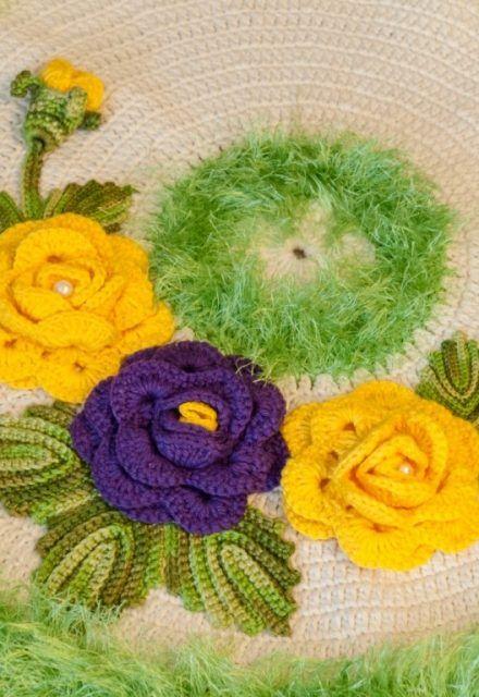 couvre lit laure de flores Tapete Verdejante • Círculo S/A | Flores de crochet | Pinterest couvre lit laure de flores