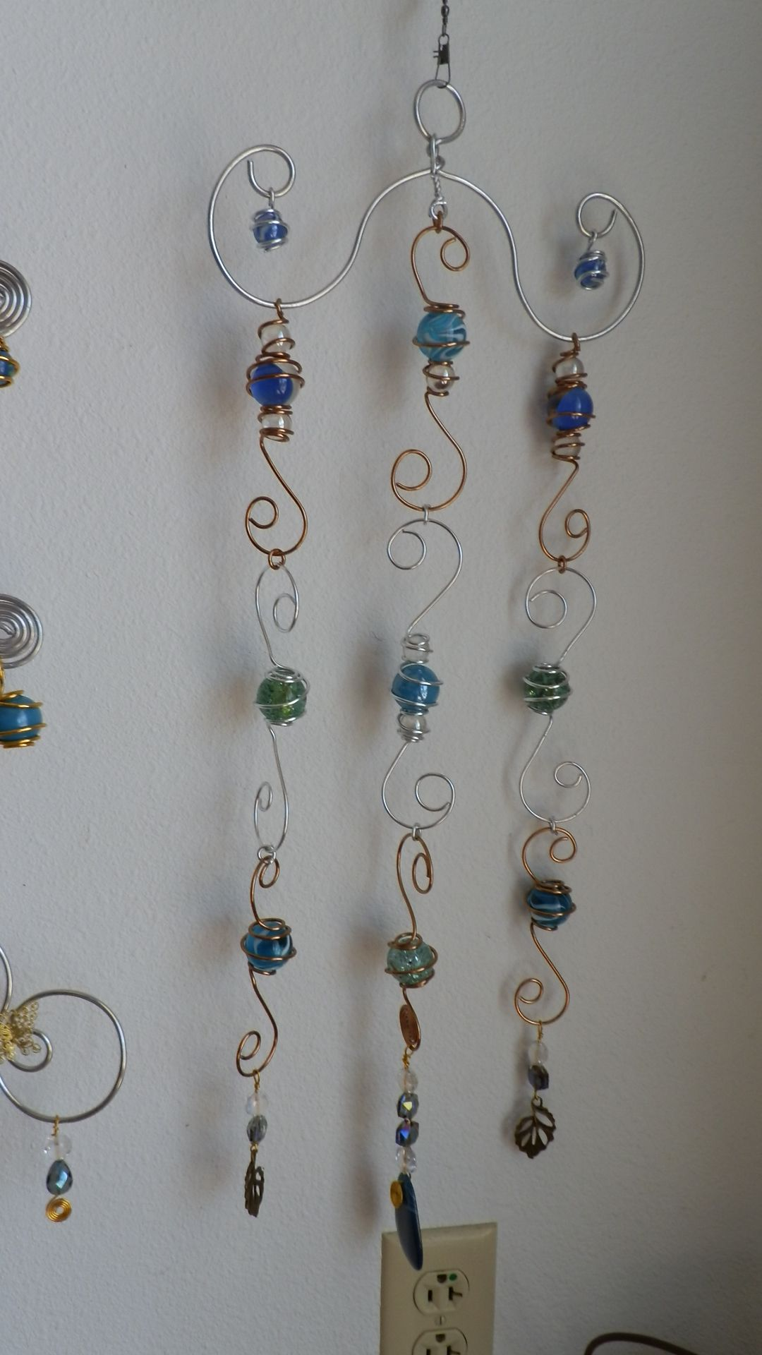 craft ideas beads sun catcher wind chime wire wrapped marbles beaded 1521
