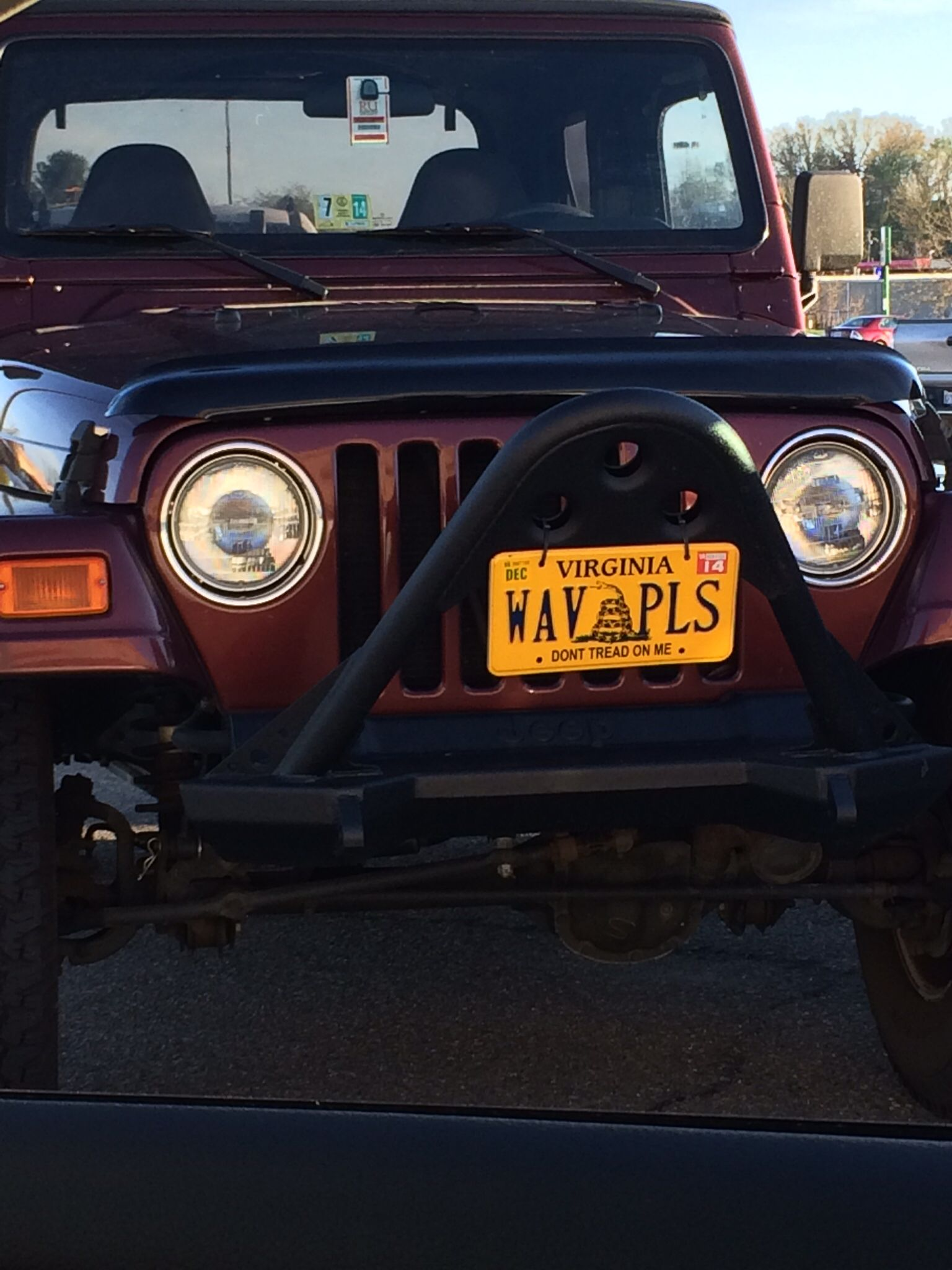 Jeep Wave It Is Not An Option Jeep Wave Vanity License