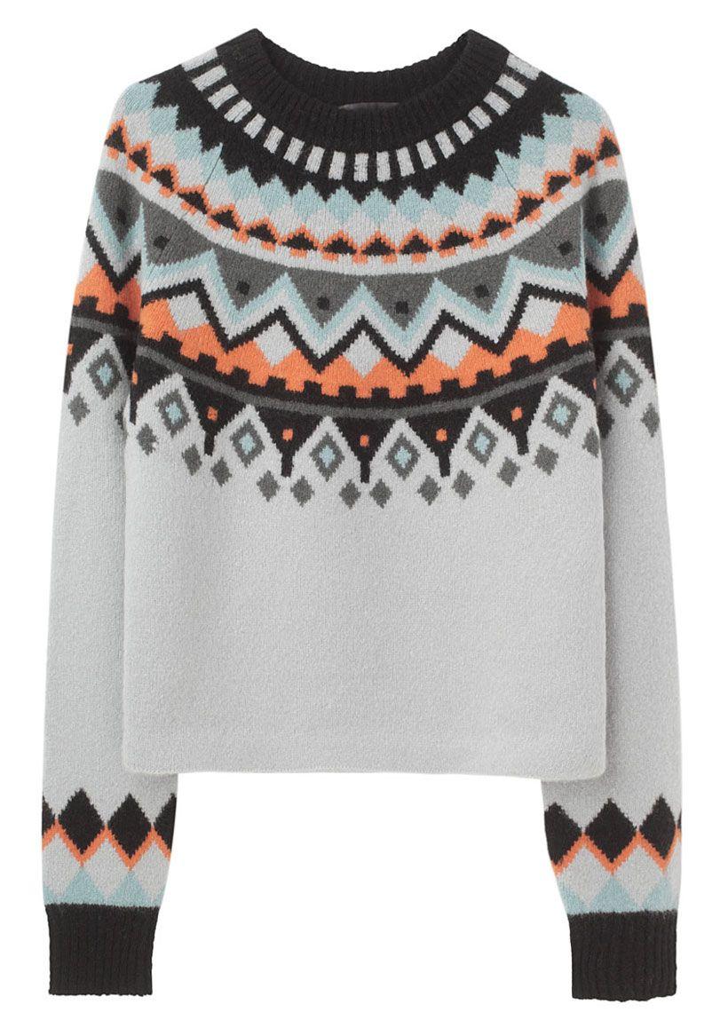 Proenza Schouler / Intarsia Long Sleeve Pullover
