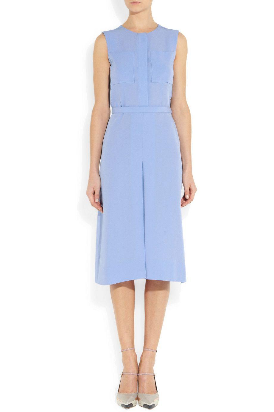 Victoria Victoria Beckham Crepe Midi Dress Victoria Dress Dresses Retro Dress [ 1380 x 920 Pixel ]