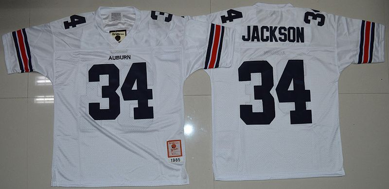 buy popular 4ebd5 0af2c Auburn Tigers Bo Jackson 34 College Football Throwback ...