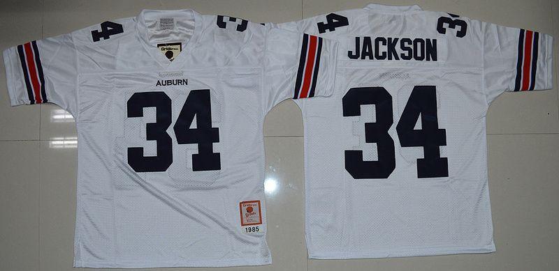 buy popular 97e1c b5be4 Auburn Tigers Bo Jackson 34 College Football Throwback ...