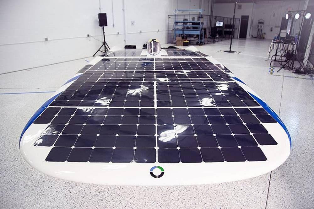 Dawn solar powered car designed to reach 65 mph Solar