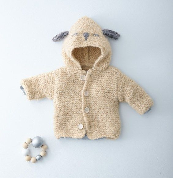 Breipatroon Vest met capuchon   Baby knitting patterns, Baby