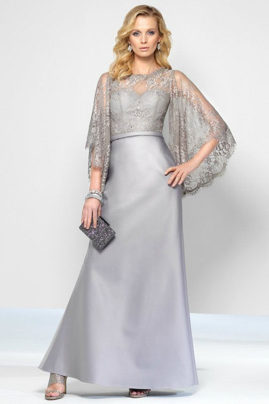 Silver Lace Gown | Silver gown, Gowns and Formal gowns