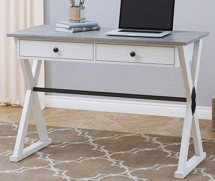 Stratford Farmhouse 2 Tone Desk Big Lots Home Office Furniture Desk Home Office Desks