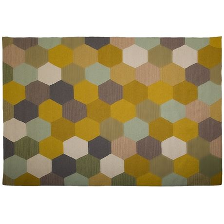 Honeycomb Rug For Loungeroom