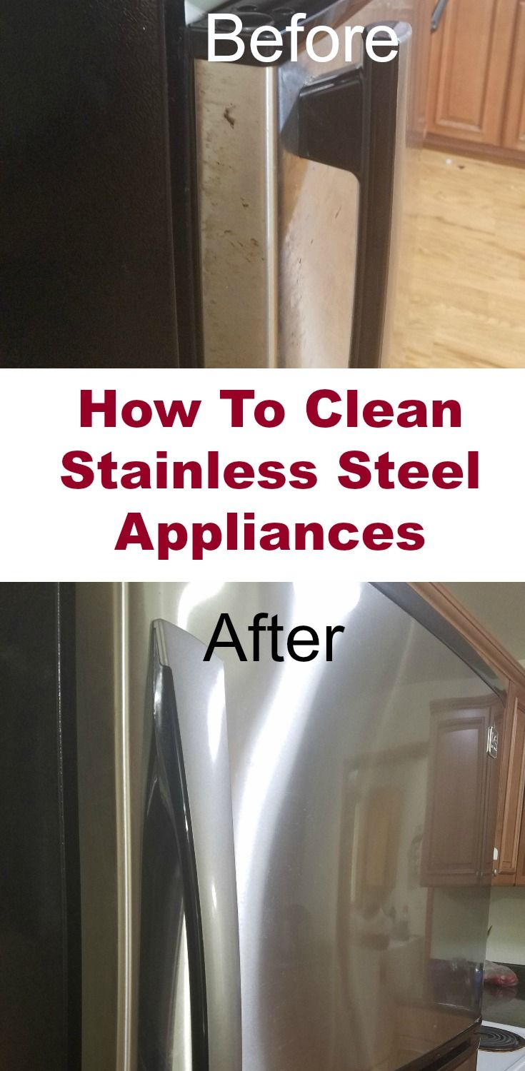 How To Clean Stainless Steel Appliances | Recipe | Hard water, Life ...