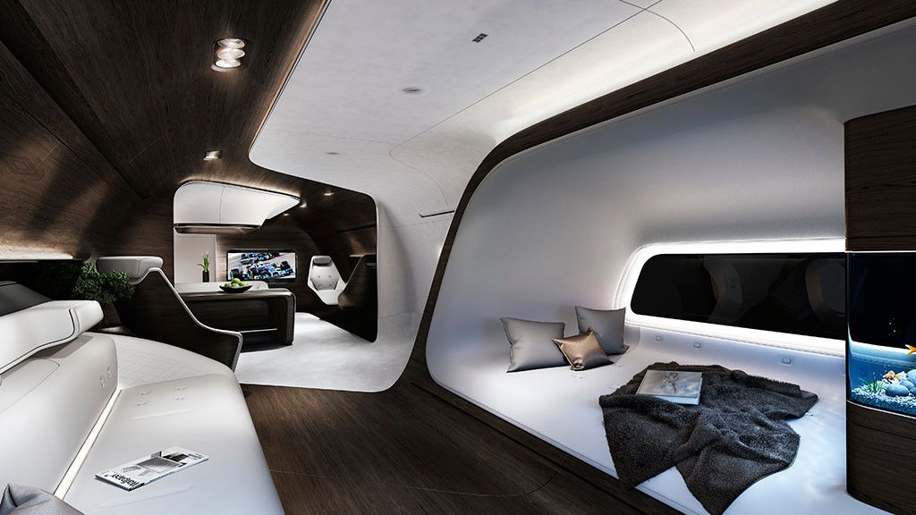 Private Jet Cabin Mercedes Benz And Lufthansa Interior Design On The Go Planes Trains Automobiles Insute Of San Blog