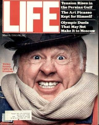 "Mickey Rooney - Life Magazine, March 1, 1980 issue - Visit http://oldlifemagazines.com/the-1980s/1980/march-01-1980-life-magazine.html to purchase this issue of Life Magazine. Enter ""pinterest"" for a 12% discount at checkout. - Mickey Rooney"