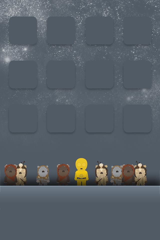 Cute Ewok Iphone Itouch Wallpaper