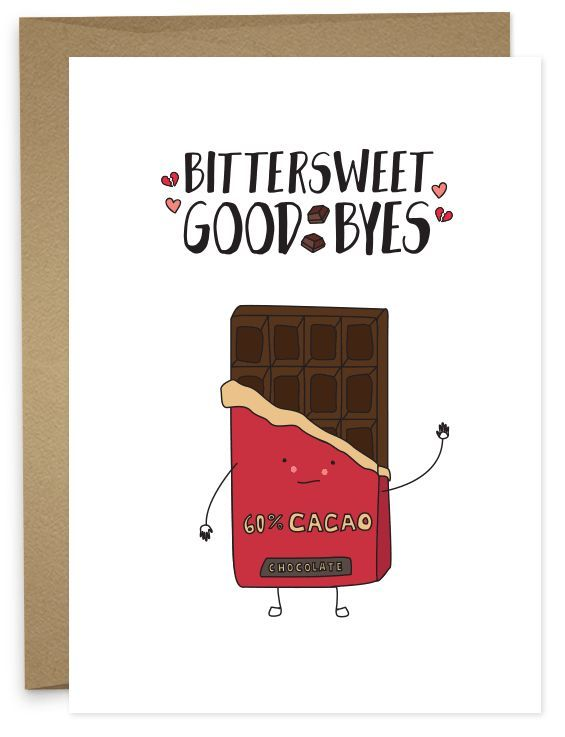 What a tasteful way to say good-bye, to the old job, to the best - free farewell card template
