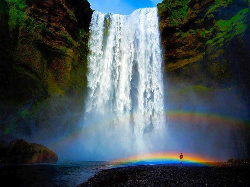 Rainbows And Waterfalls Wallpaper | www.imgkid.com - The ...