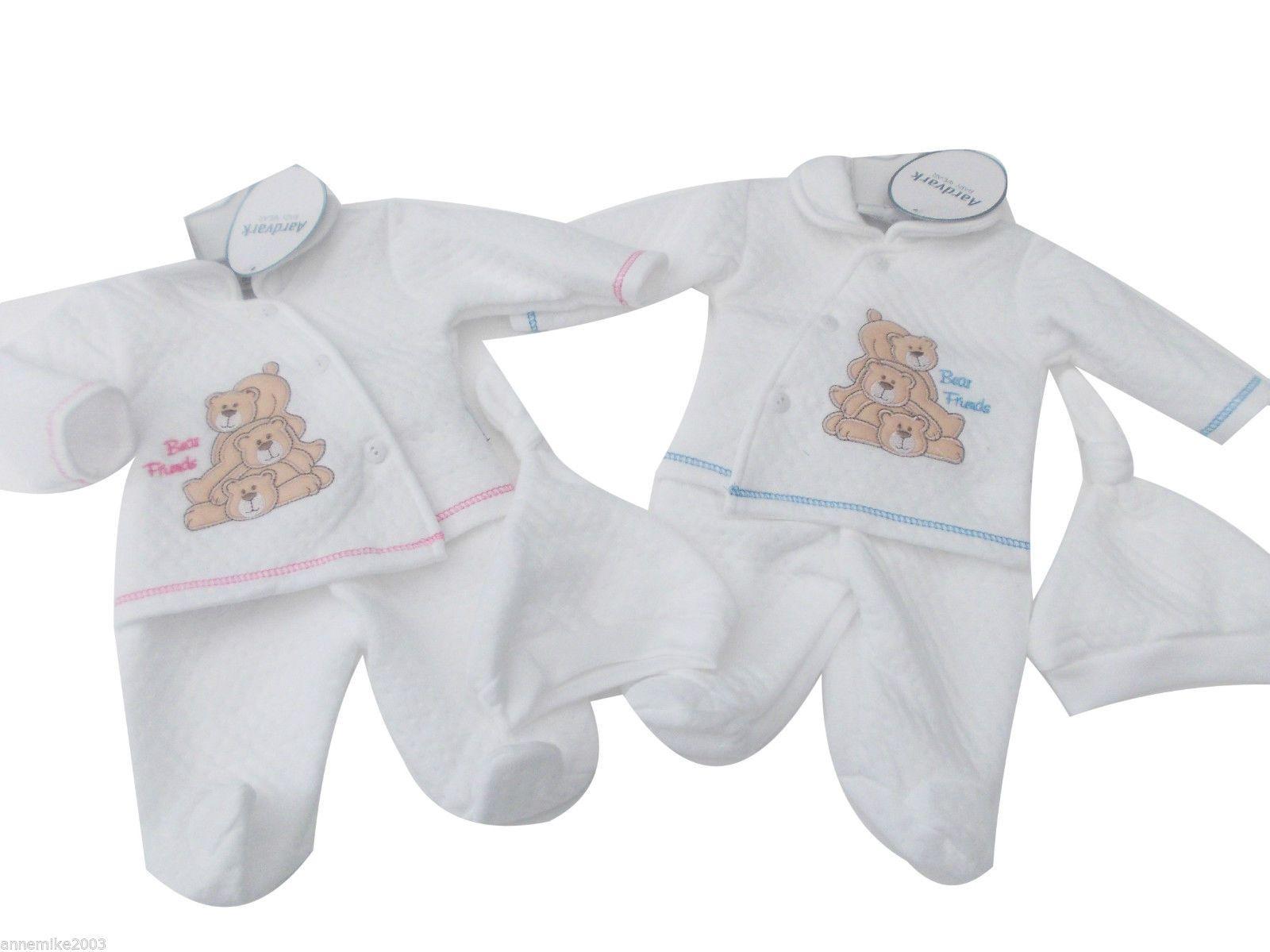 86582cf82fa BNWT Baby Prem Premature Preemie Baby Boys Girls Clothes 3 Piece suit   Hat