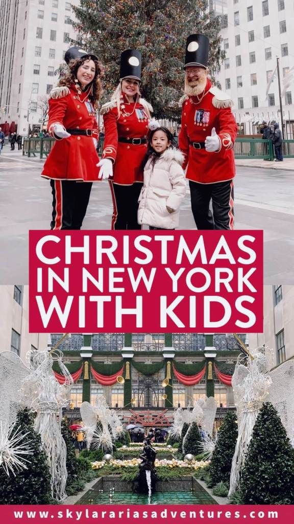 How to spend Christmas in New York City, including some tips on what to see and do- Skylar Aria's Adventures #newyork #NYC #newyorkcitytrip  #christmasinnewyorkcity #christmasinnyc #christmasmarket #christmastravel #christmas #holidaymarket #holidaytravel #holidays #christmasideas #travel #familytravel #travelguide #roadtrip #usdestinations #northamericatravel #visitusa