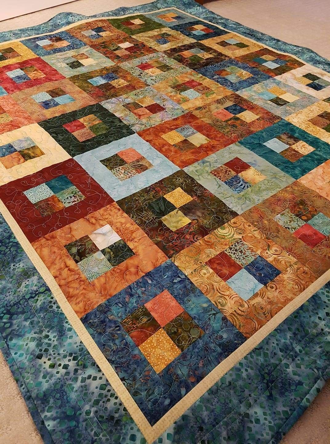 Made by Anita Pacey. I used a jelly roll for this quilt. #jellyrollquilts