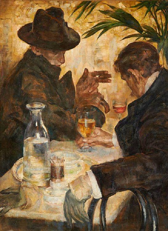 """""""La Conversación"""" Arthur Navez 1915-1920"""