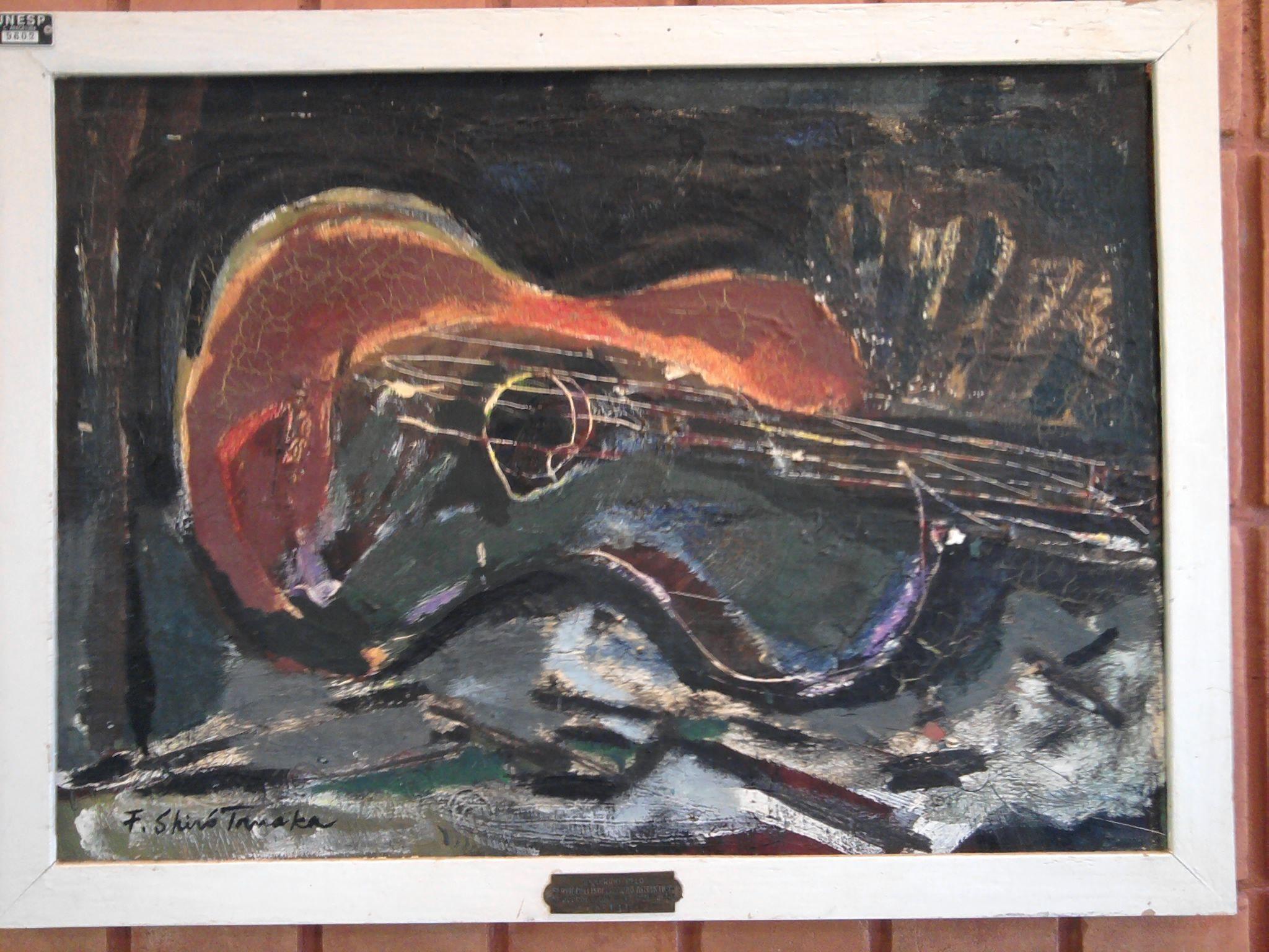Pintura de Flávio Shiró Tanaka (Sapporo, Japão, 1928) é um pintor, gravador, desenhista e cenógrafo nipo-brasileiro. O artista participou de inúmeras Bienais Internacionais, como São Paulo, França, Argentina, Havana e importantes Salões de Arte Internacionais tanto dentro do território brasileiro como no exterior. Fonte: http://www.rfi.fr/actubr/articles/063/article_8.asp Por Maria Emilia Alencar Reportagem publicada em 09/03/2005 Última atualização 21/03/2005 14 www.itaucultural.org.br