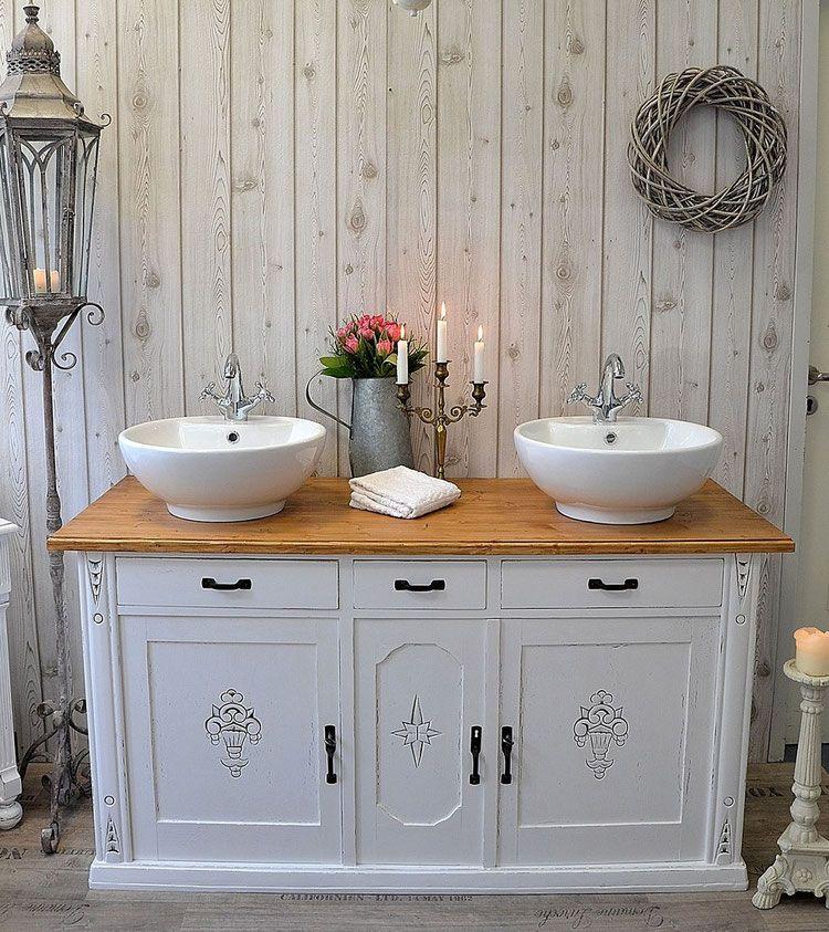 verkauft cornimont nostalgischer doppelwaschtisch im landhausstil hausideen bad. Black Bedroom Furniture Sets. Home Design Ideas
