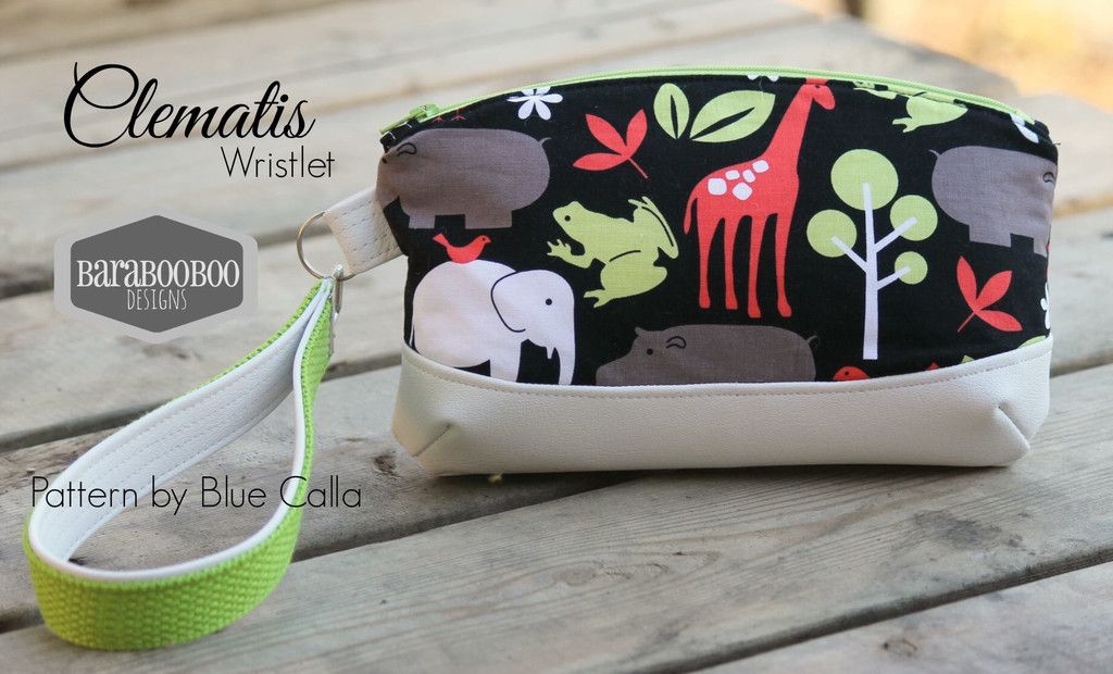 NEW The Clematis Wristlet - FREE PDF Sewing Pattern | pouches ...