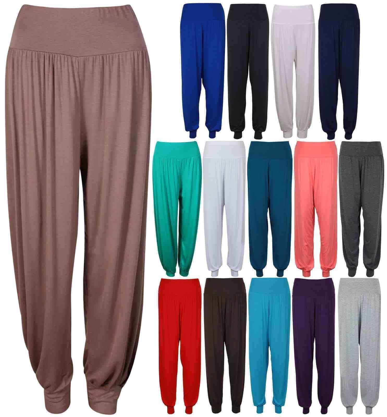 Womens harem trousers ALI BABA long pants baggy hareem leggings plus size 8-26