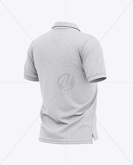 Download Men S Heather Short Sleeve Polo Shirt Back Half Side View In Apparel Mockups On Yellow Images Object Mockups Shirt Mockup Mockup Free Psd Clothing Mockup