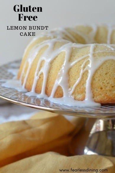 Gluten Free Lemon Bundt Cake  - Gluten Free -