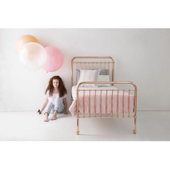 Metal Framed Rose Gold Single Bed A Stunning Rose Gold Single Bed For Children Rose Gold Bed Single Bed Single Metal Bed Frame