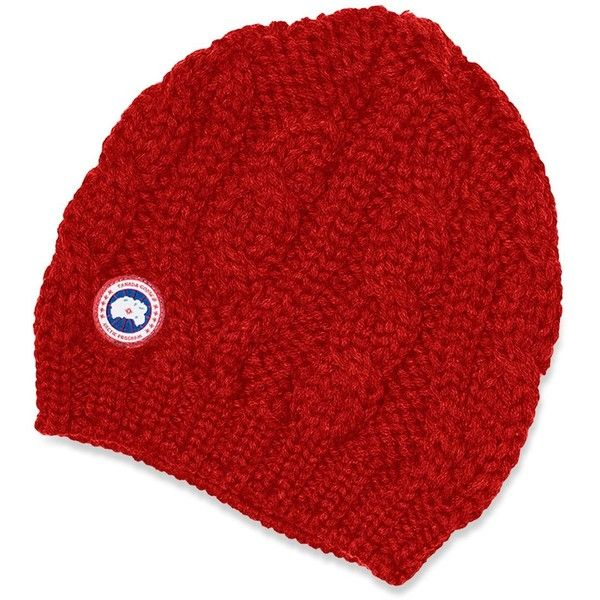 canada goose red beanie