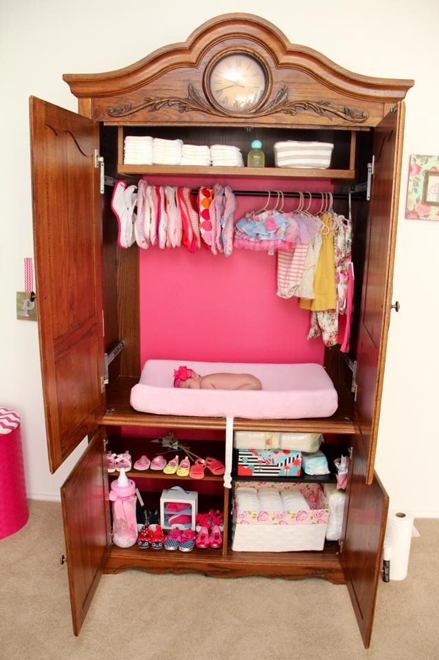 Beau TV Armoire Repurposed Into A Diaper Changer DIY. Baby ArmoireNursery ...