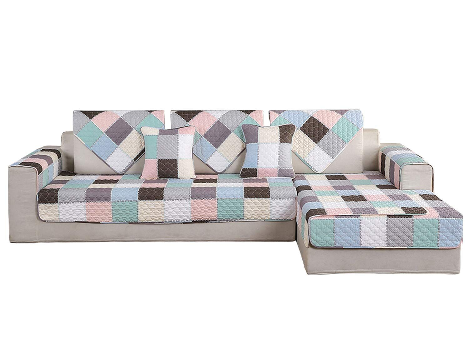 Amazon Com Hotniu 1 Piece Non Slip Quilted Sectional Sofa