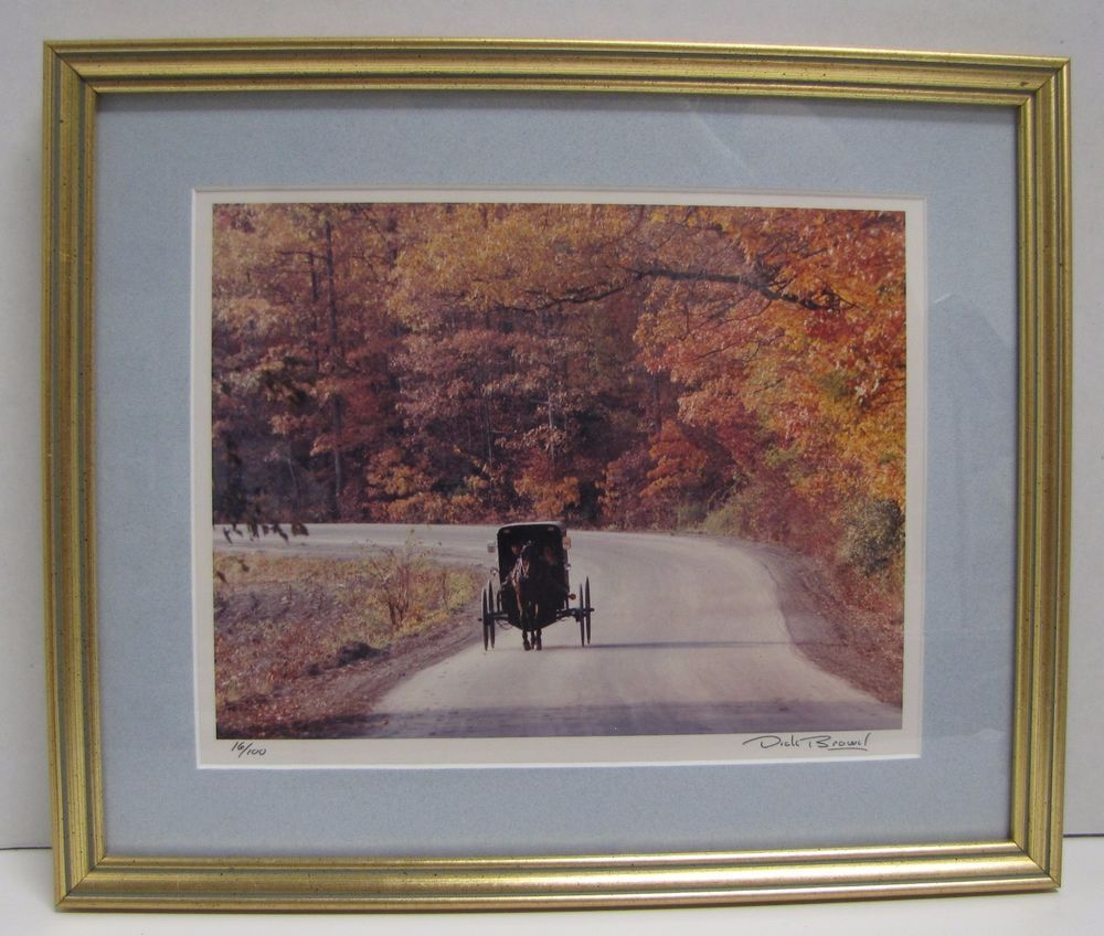 2 dick brown amish buggy country road boy straw hat framed photo dick brown amish carriage buggy country road photo framed signed numbered jeuxipadfo Choice Image