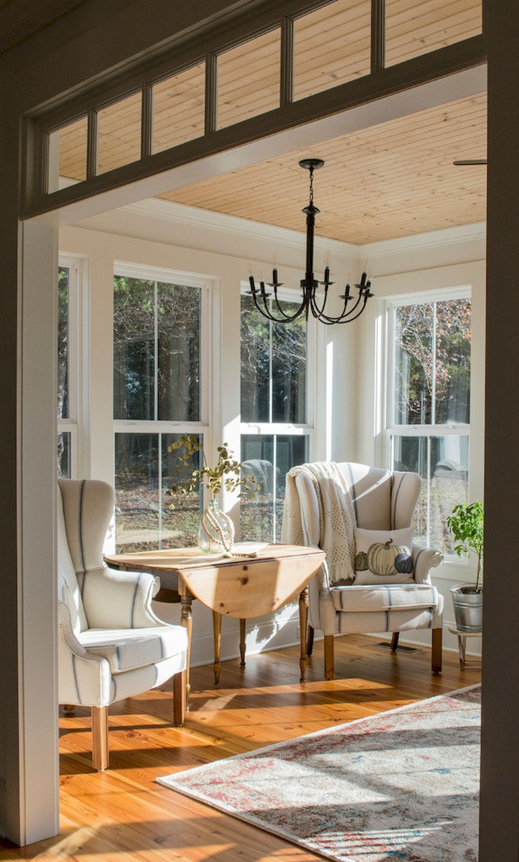 50 Cozy Farmhouse Sunroom Decor Ideas Sunroom Decorating