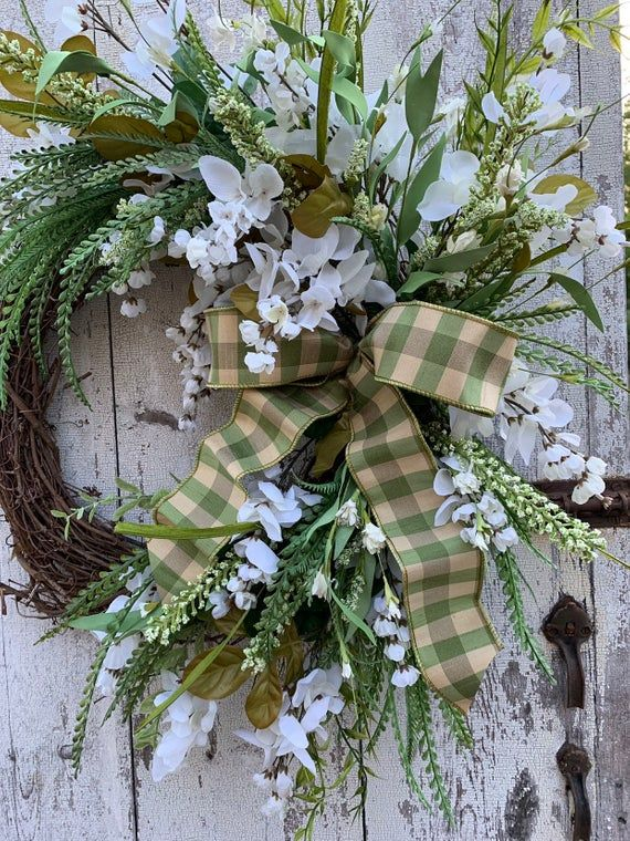 Summer wreath for front door, Wisteria wreath, Double door wreath, Housewarming Gift #doubledoorwreaths