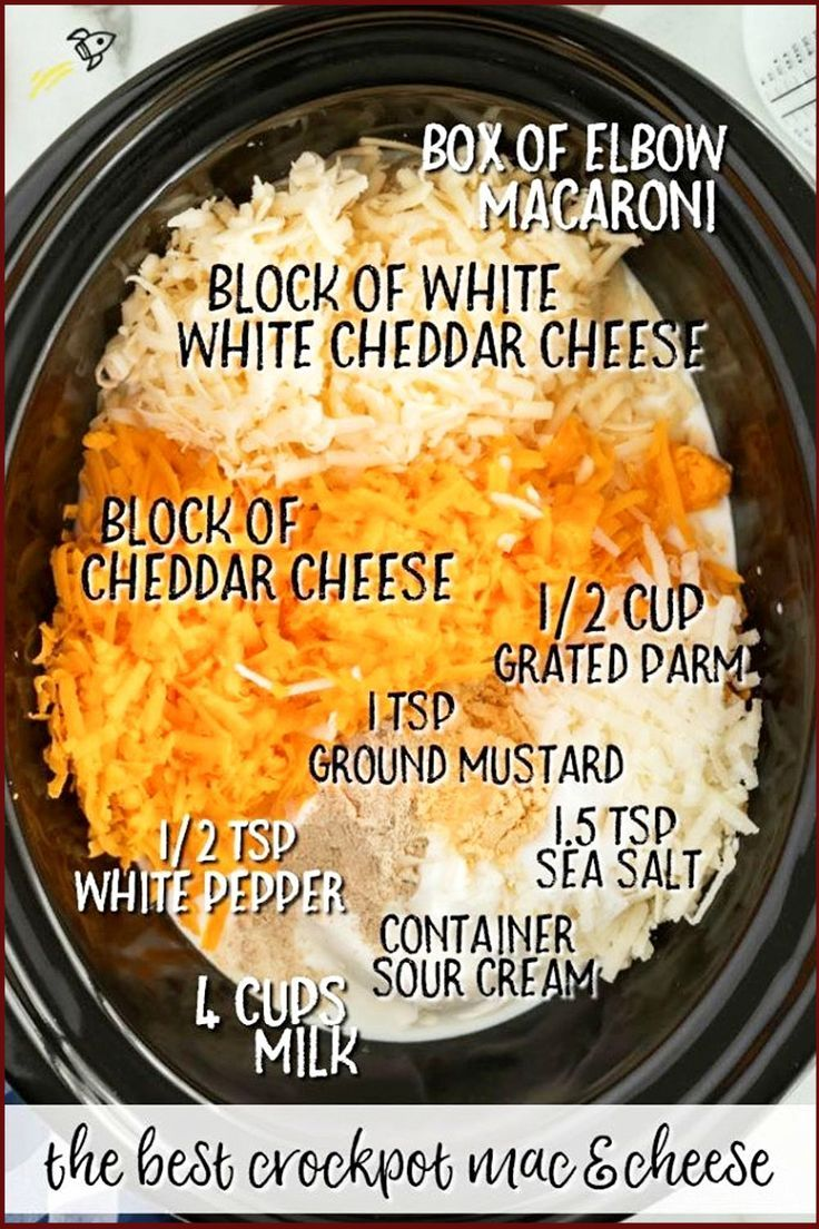 8 EASY Crock Pot Mac n Cheese Recipes (simple crockpot slow cooker macaroni and cheese)